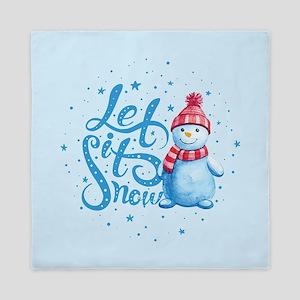 Let It Snowman Queen Duvet