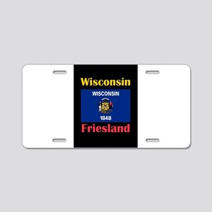 Friesland Wisconsin Aluminum License Plate