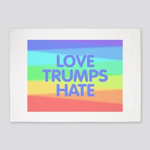 Love Trumps Hate 5'x7'Area Rug