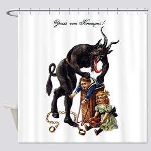 Krampus Shower Curtain