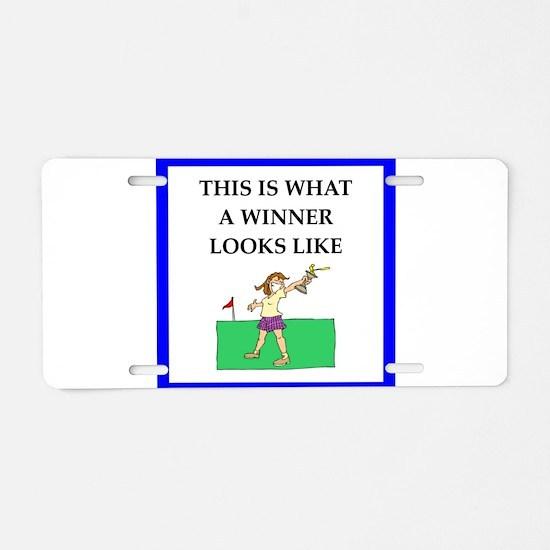 golf joke Aluminum License Plate