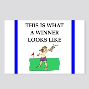 golf joke Postcards (Package of 8)