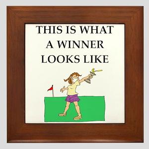 golf joke Framed Tile