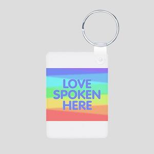 Love Spoken Here Keychains