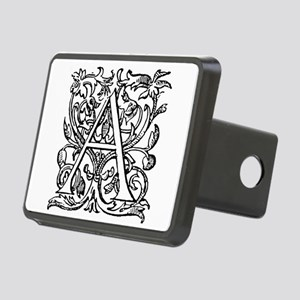 Vintage Letter A Rectangular Hitch Cover