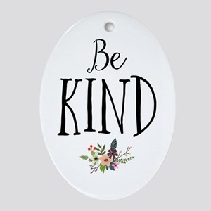 Be Kind Oval Ornament