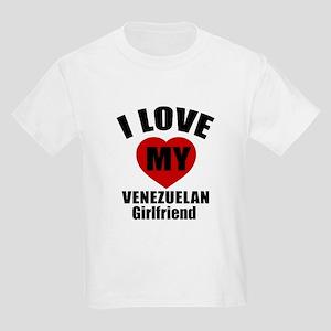 I Love My Venezuela Girlfriend Kids Light T-Shirt