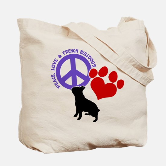 P,L,FRENCHIES (both sides) Tote Bag