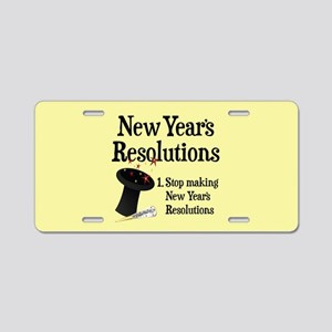 New Years Resolutions Aluminum License Plate