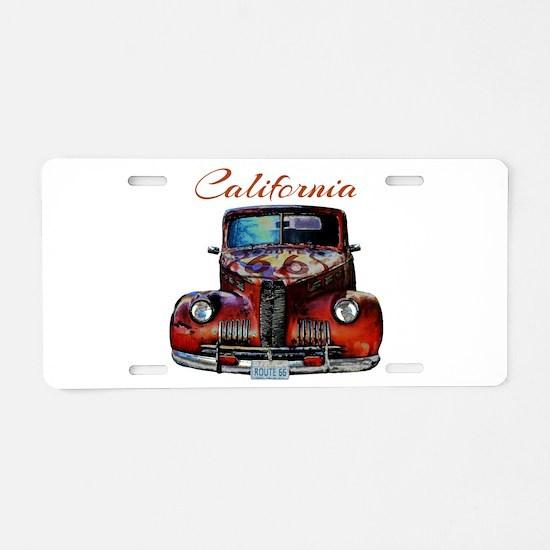 California Route 66 Truck Aluminum License Plate