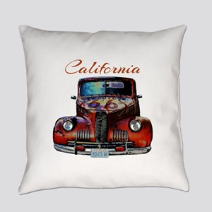 California Route 66 Truck Everyday Pillow