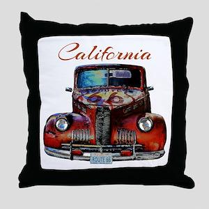 California Route 66 Truck Throw Pillow