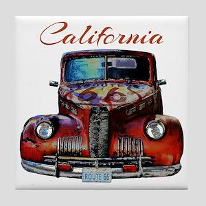 California Route 66 Truck Tile Coaster