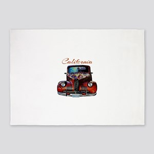 California Route 66 Truck 5'x7'Area Rug