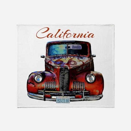 California Route 66 Truck Throw Blanket