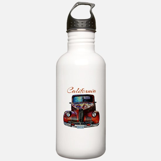 California Route 66 Truck Water Bottle