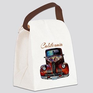 California Route 66 Truck Canvas Lunch Bag
