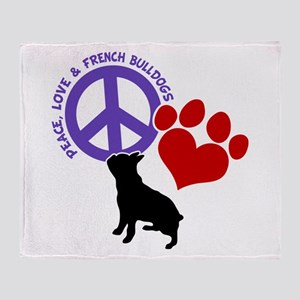 P,L, FRENCHIES Throw Blanket