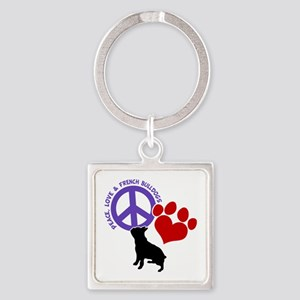 P,L, FRENCHIES Square Keychain