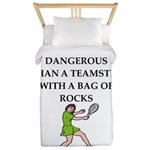 Tennis joke Twin Duvet