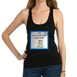 Tennis joke Racerback Tank Top