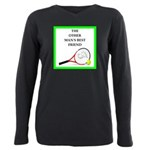 Tennis joke Plus Size Long Sleeve Tee