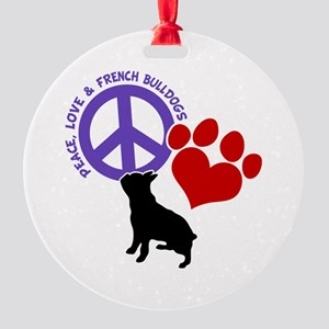 P,L, FRENCHIES Round Ornament