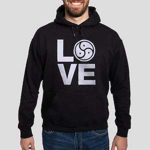 BDSM Love Symbol Hoodie (dark)
