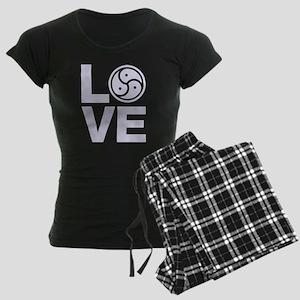 BDSM Love Symbol Women's Dark Pajamas