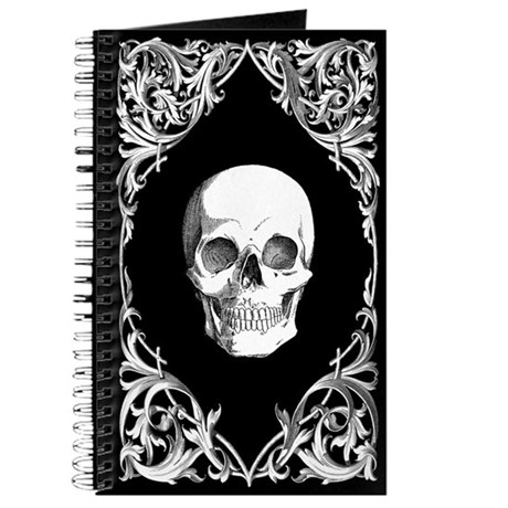 Black Elegant Skull Journal