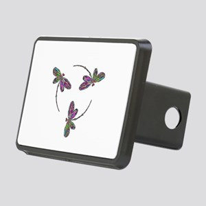Neon Dragonfly Trinity Rectangular Hitch Cover