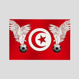 Tunisian Football Rectangle Magnet