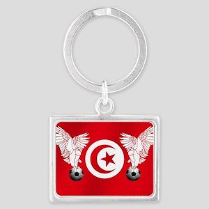 Tunisian Football Landscape Keychain