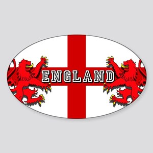 England Lion Flag Sticker (Oval)