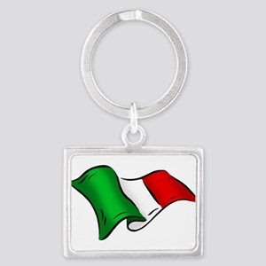 Waving Italian Flag Keychains