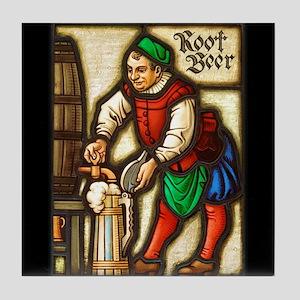 Root Beer Man Tile Coaster