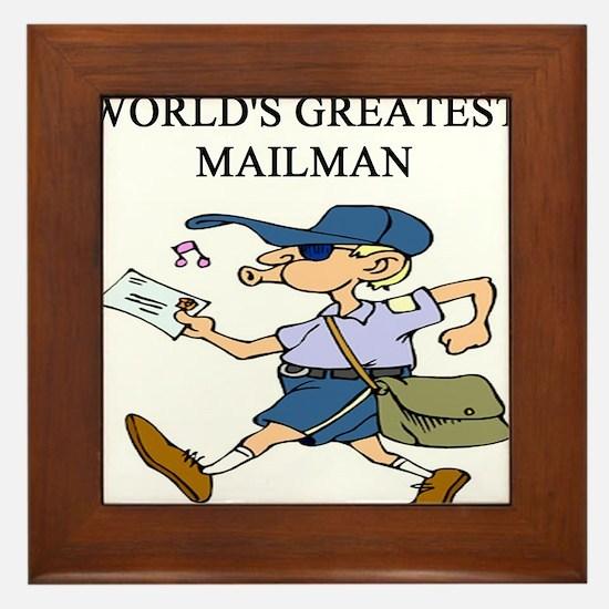 mailman gifts t-shirts Framed Tile
