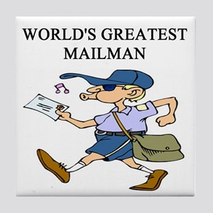 mailman gifts t-shirts Tile Coaster