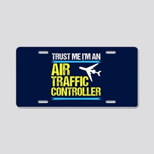Air Traffic Controller Aluminum License Plate