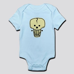 A Skull with earrings Body Suit