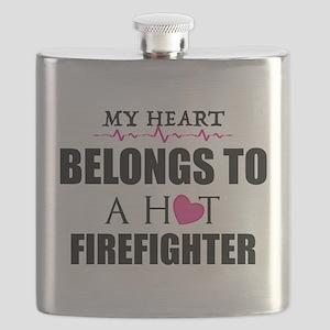 MY HEART BELONGS TO A HOT FIREFIGHTER Flask