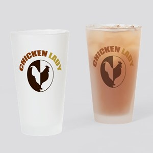 Chicken Lady Drinking Glass
