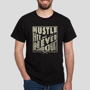 Baseball Hustle Hit & Never Quit (Light) T-Shirt