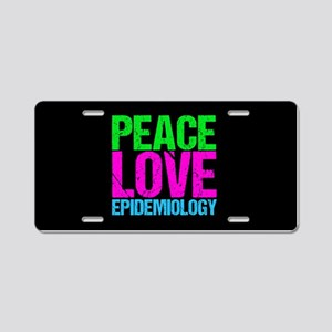 Cute Epidemiology Aluminum License Plate