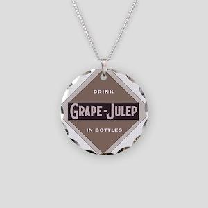 Grape Julep Soda 21 Necklace Circle Charm
