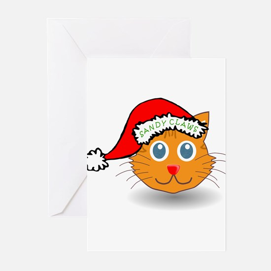 Sandy Claws Greeting Cards