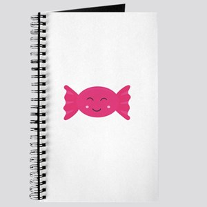 Pink candy bonbon with smile Journal