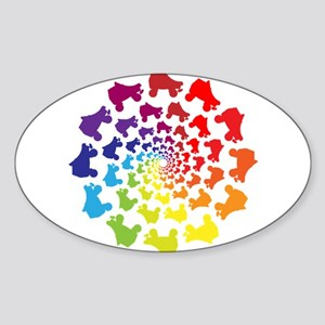 rainbow circle skate Sticker