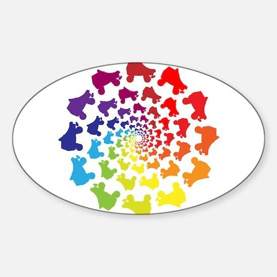 rainbow circle skate Decal
