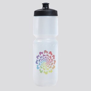 rainbow circle skate Sports Bottle